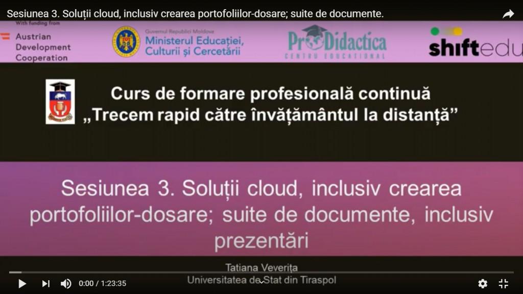 Sesiunea 3